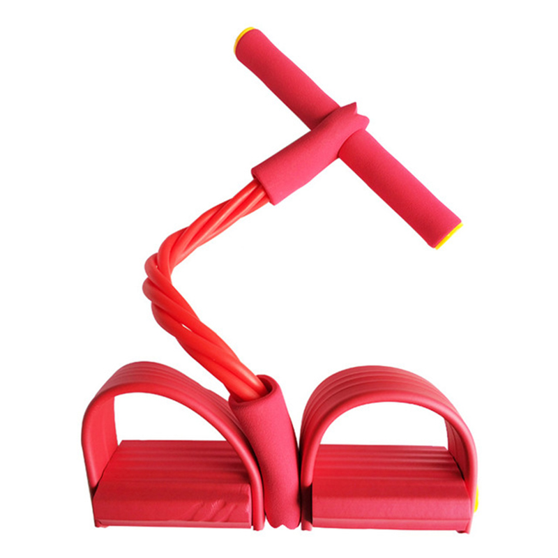 New Pedal Exerciser Pull Ropes Exerciser Rower Belly Resistance Band Home Gym Sport Training Elastic Bands 2 tubes/4 tubes
