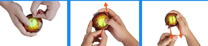 Strengthener Force Power Wrist Ball Gyroscope Spinning Wrist Rotor Gym Hand grip Exerciser Gyro Fitness Ball Muscle Relax 30LBS
