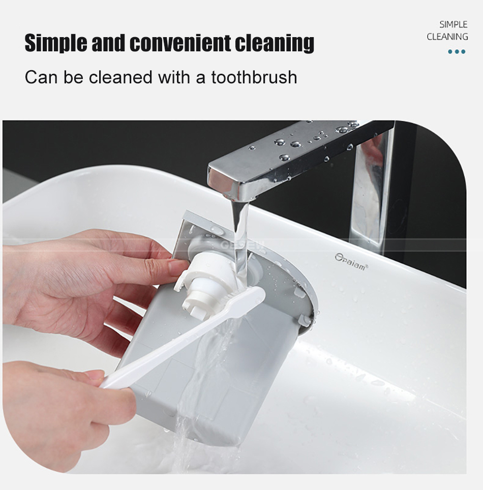 GESEW Wall-mounted Magnetic Toothbrush Holder waterproof Toothpaste Squeezer For Toilet Automatic Dispenser Bathroom Accessories