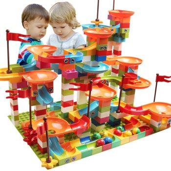 Building Block Toy Marble Race Run