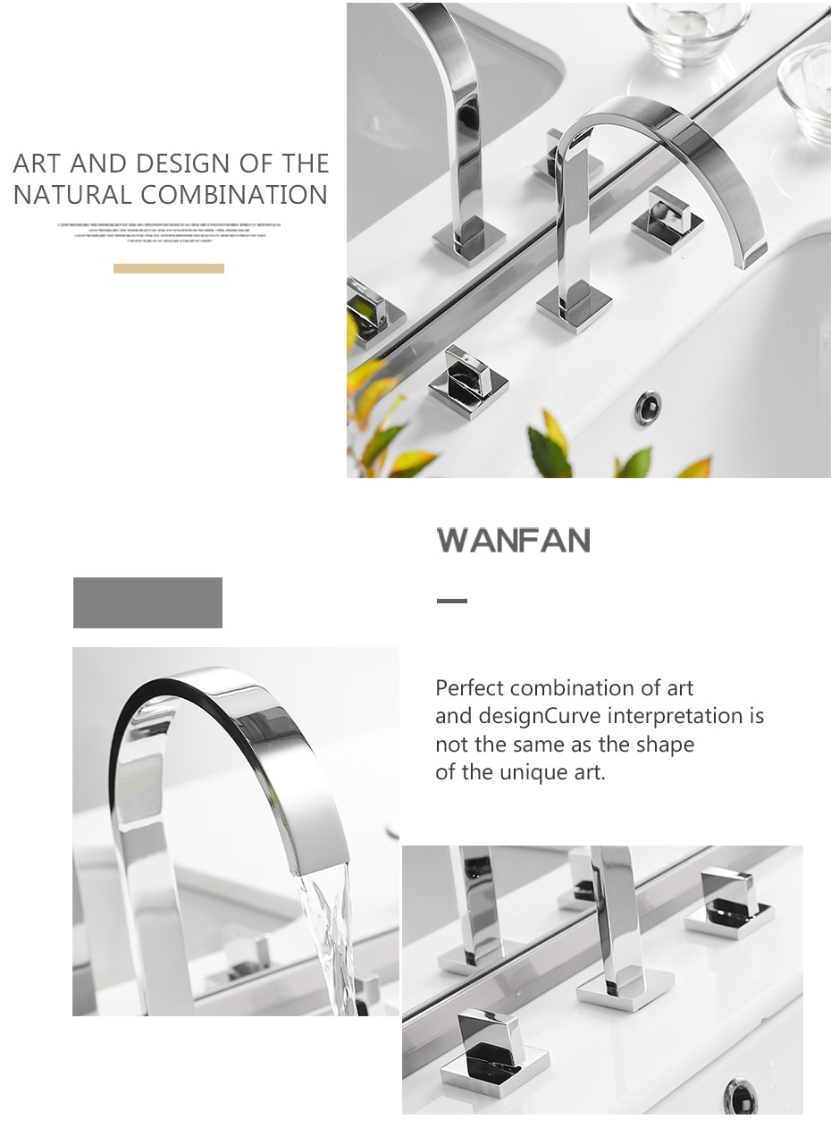 Basin Faucets Brass Polished Chrome Deck Mounted