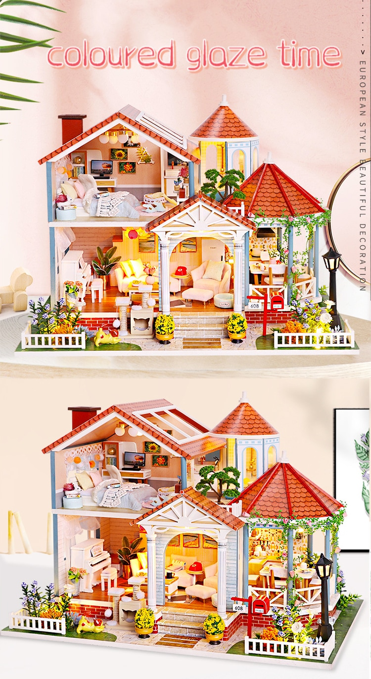 Doll House Wooden Furniture Diy Miniature