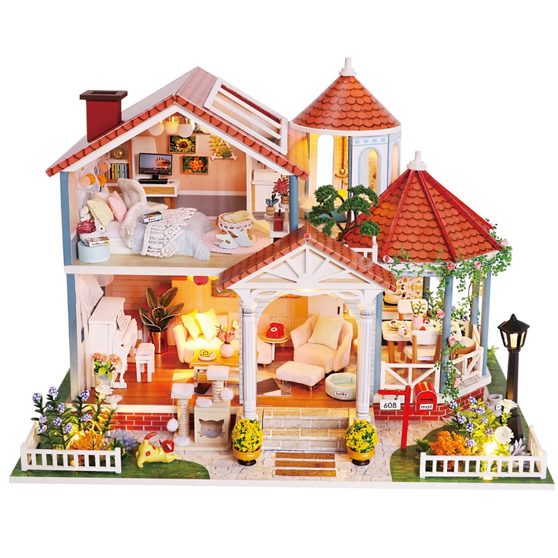 Doll House Wooden Furniture Diy House Miniature