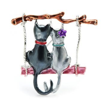 Couple Cats Brooch