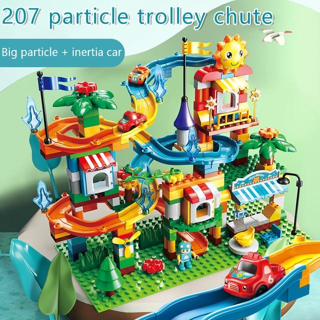 Building Block House City Castles Amusement Park