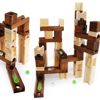 Wooden Marble Run Block Toy