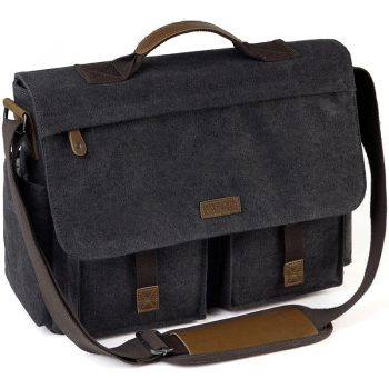 Messenger Water Resistant Waxed Canvas 15.6 inch Laptop Briefcase