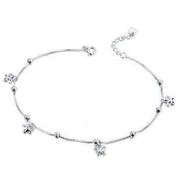 925 Sterling Silver Butterfly Anklet