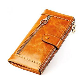 Wallets Genuine Leather Female Clutch Long