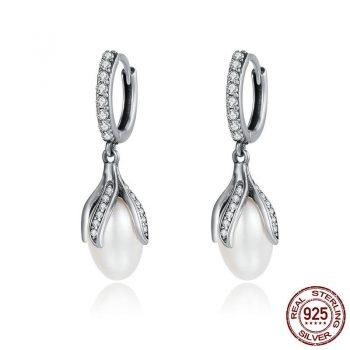Earring 925 Sterling Silver Pearl Drop