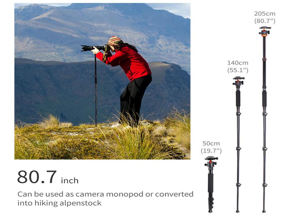 Camera Tripods DSLR Aluminum Tripod 360 Degree Panorama Ball Head
