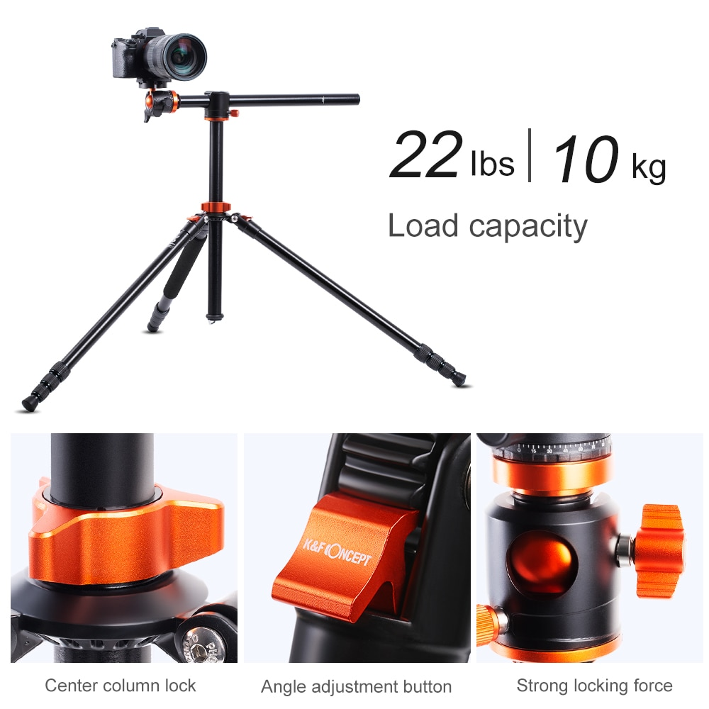 Camera Tripod Monopod 93 Inch Compact 4 Section Aluminum