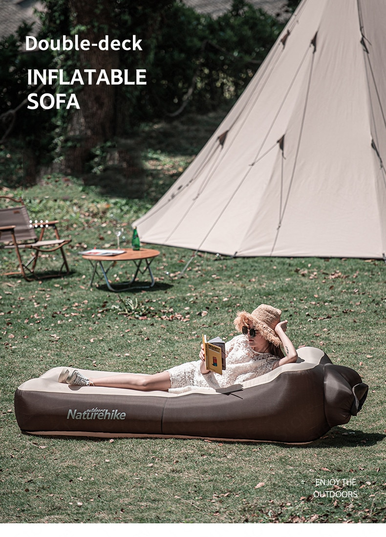 Inflatable Camping Air Bed Polyester Wear Resistant Waterproof
