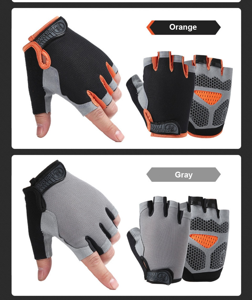 Fitness Gloves Half Finger Breathable Anti-slip Weightlifting