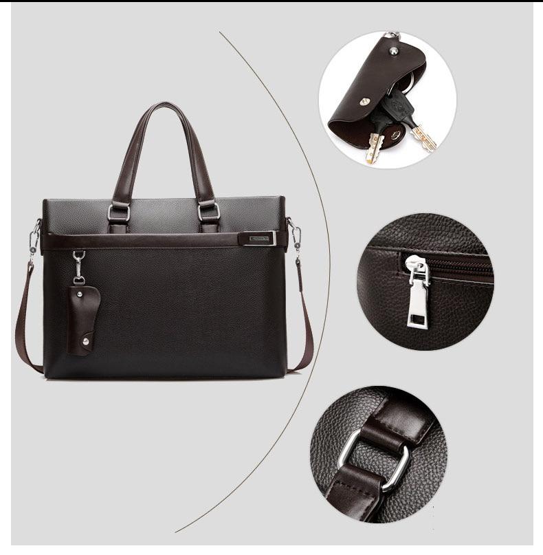 Briefcase Faux Leather Business Office Laptop Bag 3 Piece Set