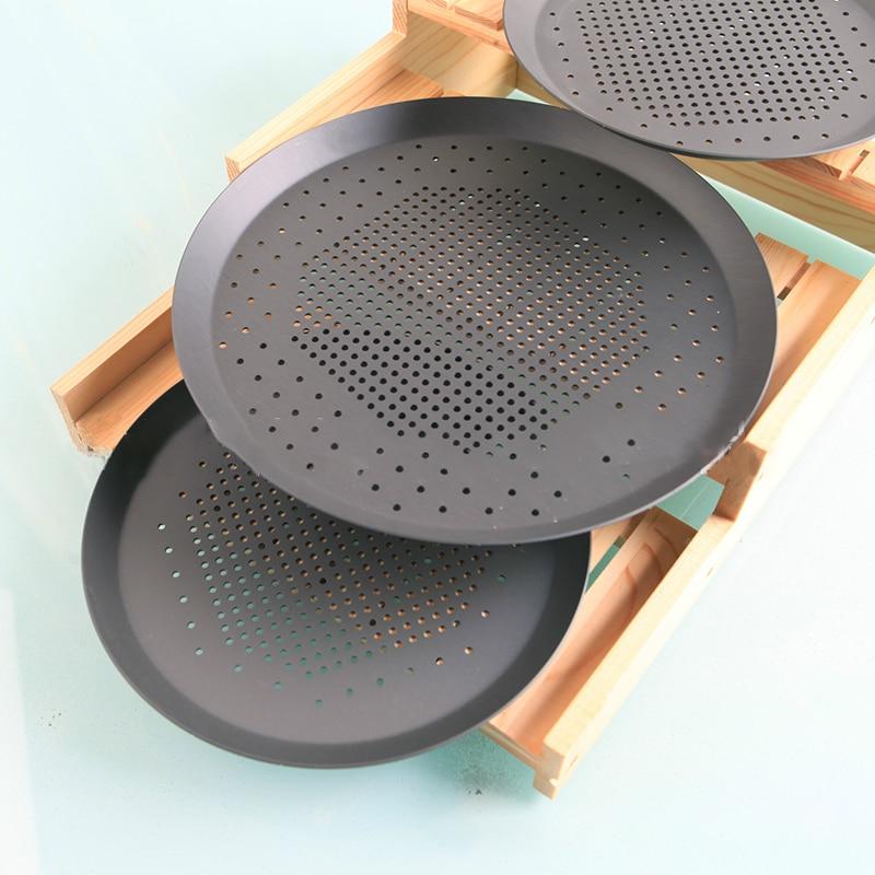 Pizza Pan Thickening Punching Holes Aluminium Alloy Baking Trays