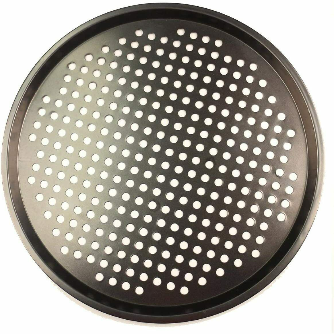 Pizza Pan Nonstick Coating Carbon Steel 12 Inch Mesh Crisper Tray