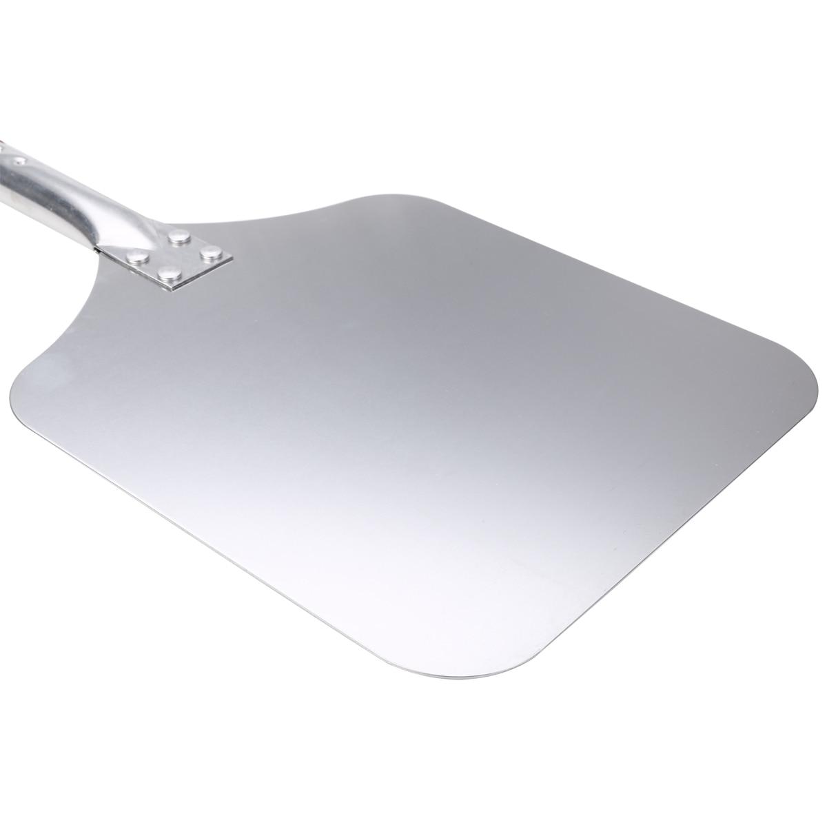 Pizza Peel Aluminium Shovel Square Lift Turner Wooden Handle