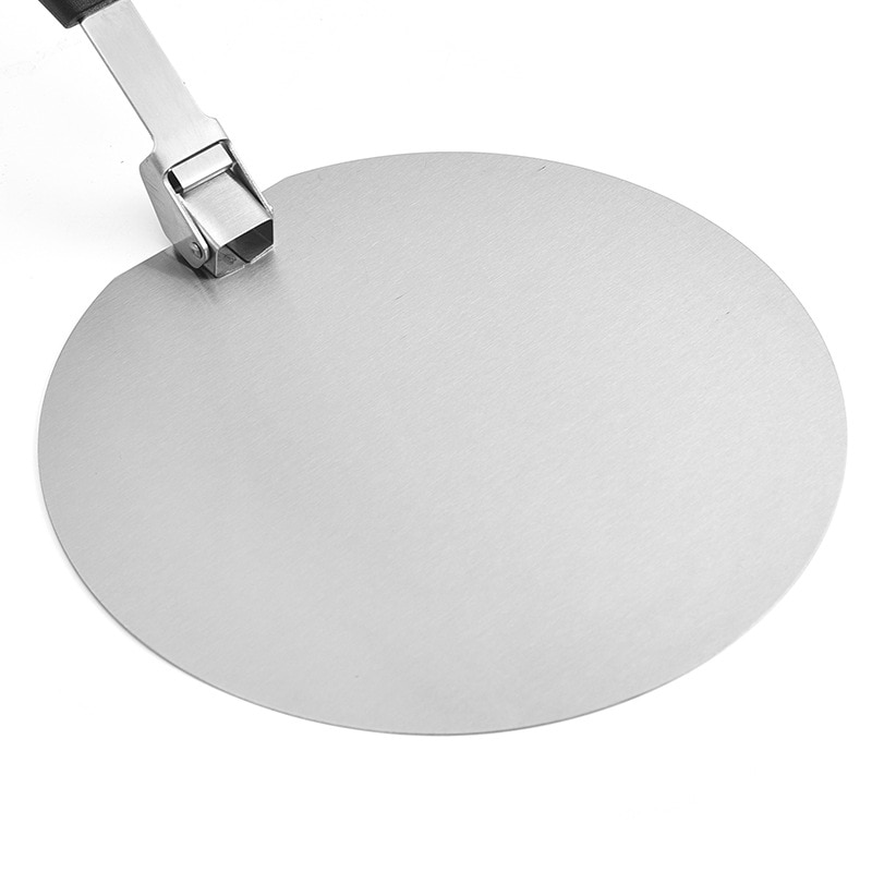 Pizza Shovel Peel Plastic Handle Foldable Stainless Steel Non-Stick
